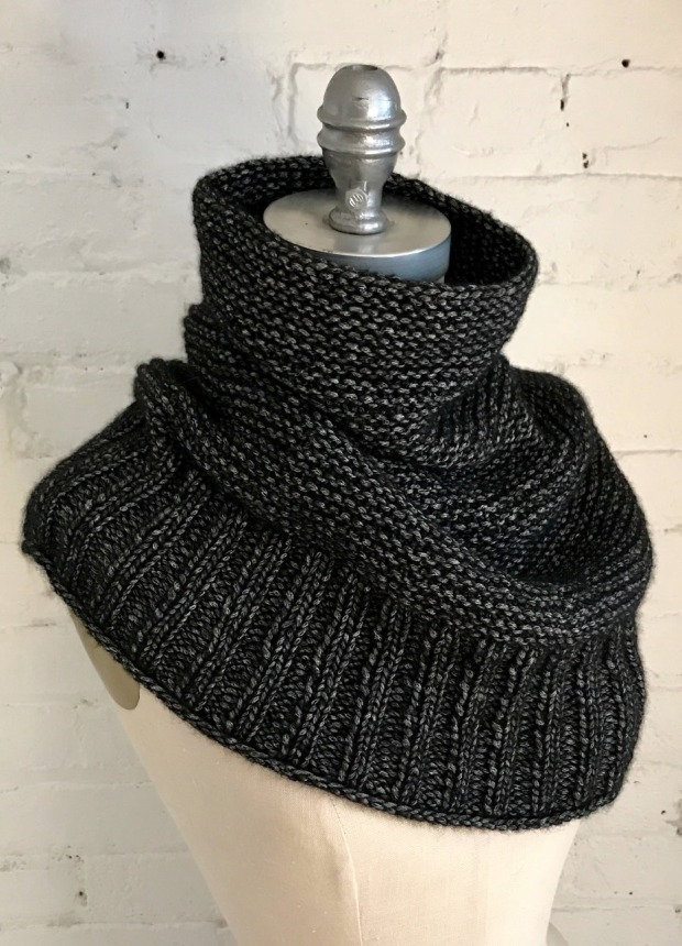 ab6b941c2 Simple and stylish, GETTING WARMER is a light and cozy cowl worked from the  bottom up, transitioning from easy 2×2 rib to garter stitch in the round  with ...