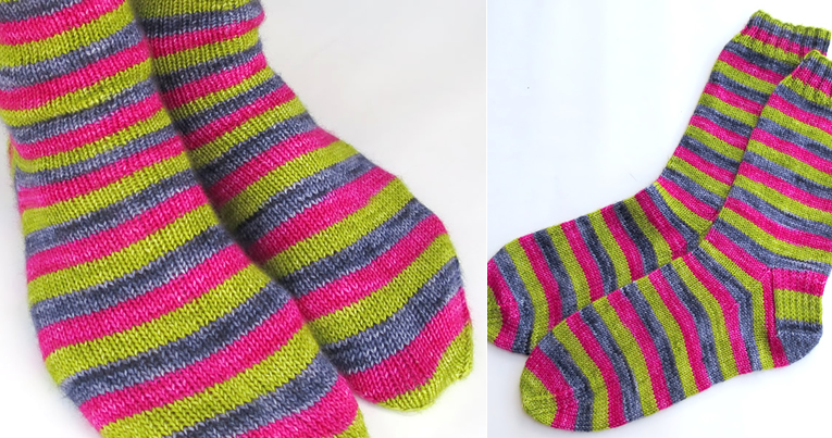 New free pattern from Espace Tricot: Scrumptious Stripes ...