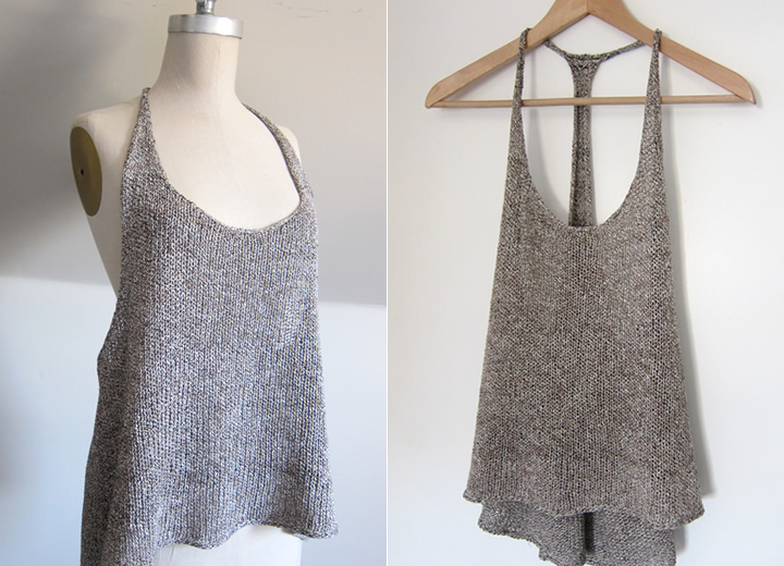 Knitting Pattern For Tank Top : Espace Tricot Patterns   FREE! Espace Tricot Blog