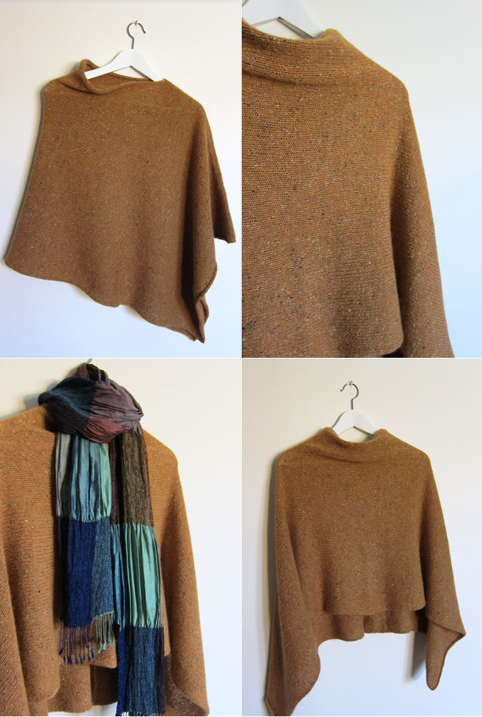Knitting Pattern For Simple Poncho : New Store Samples   Color Affection, Easy Folded Poncho   Espace Tricot Blog
