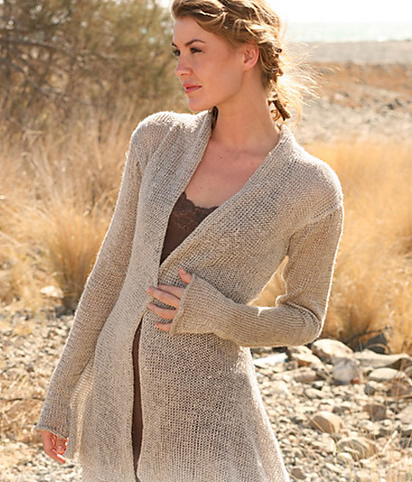 Free Pattern Friday: Asymmetric jacket in Drops Lin – Espace Tricot Blog