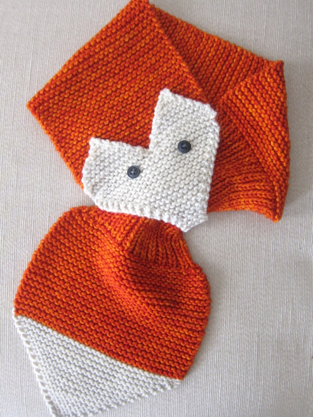 Fox Scarf Knitting Pattern : New store sample: Fox Scarf by Gina Michele   Espace Tricot Blog