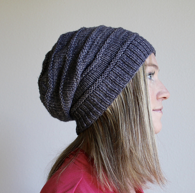 Slouch Hat Knitting Pattern : Free pattern Friday: Favorite Knit Slouchy Hat by Jamie ...