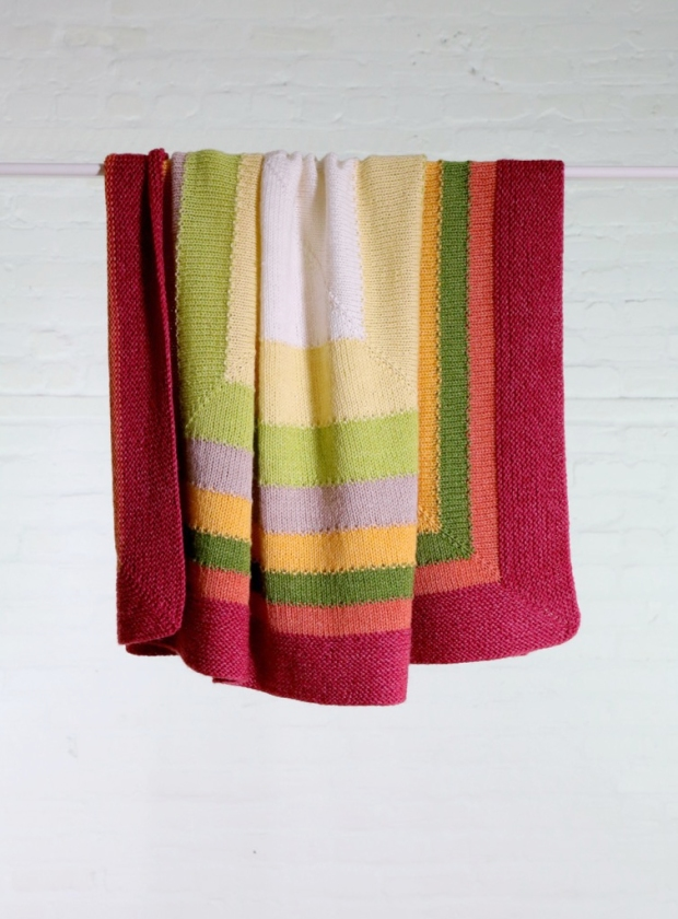 New (free) pattern from Espace Tricot: Fair & Square Baby Blanket ...