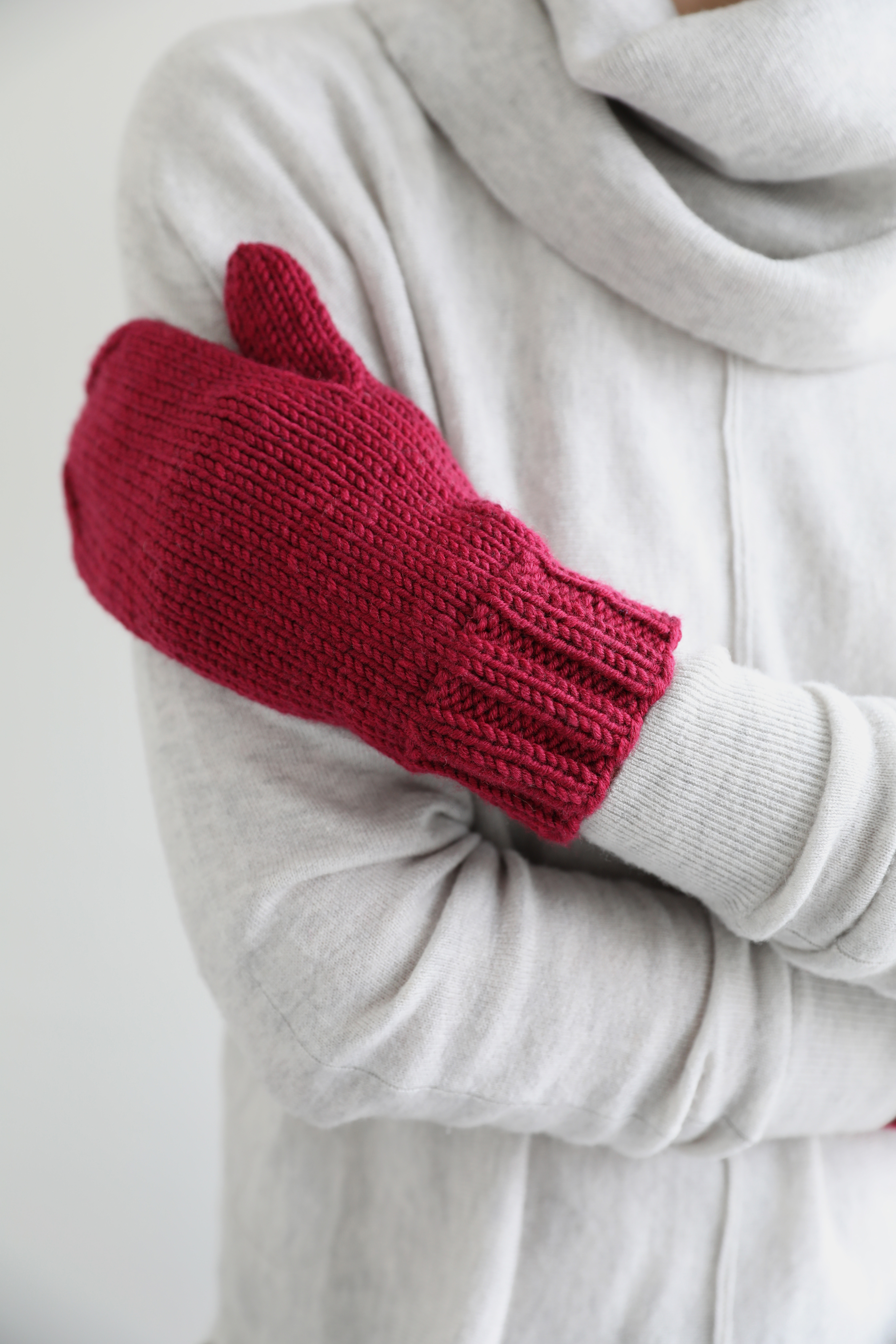 New free pattern from Espace Tricot: Big Merino Mitts - Espace Tricot Blog