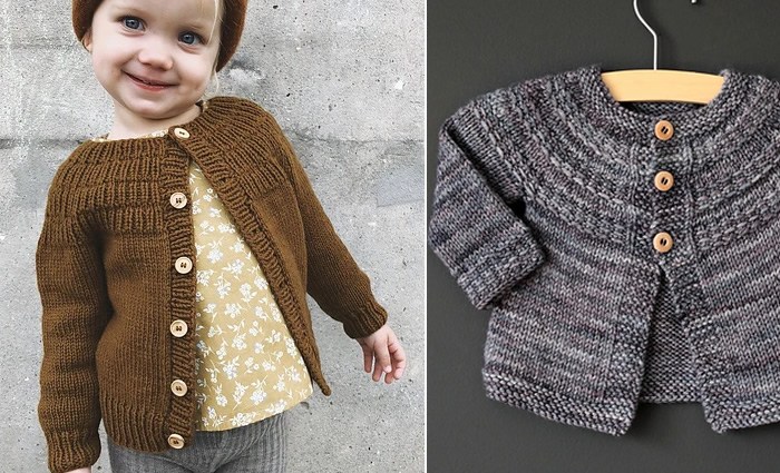df074f03a Learn to knit a top down children s  cardigan (or sweater). You will have  the choice between two basic patterns with a patterned yoke  the Hyphen by  Lisa ...