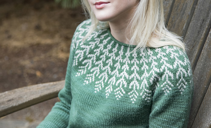 f08d03790a5a8 ... pullover by Jennifer Steingass is worked seamlessly from the top down